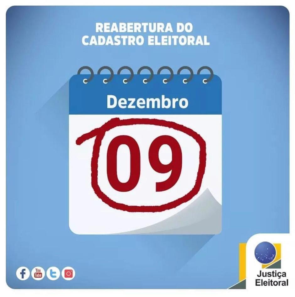 REABERTURA DO CADASTRO ELEITORAL