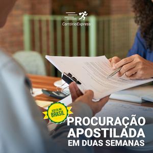 Procuração Apostilada nos Estados Unidos, em apenas 2 semanas e com validade no Brasil.