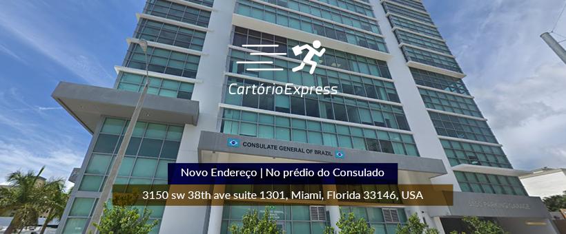 CARTÓRIO EXPRESS MIAMI ESTÁ DE ENDEREÇO NOVO
