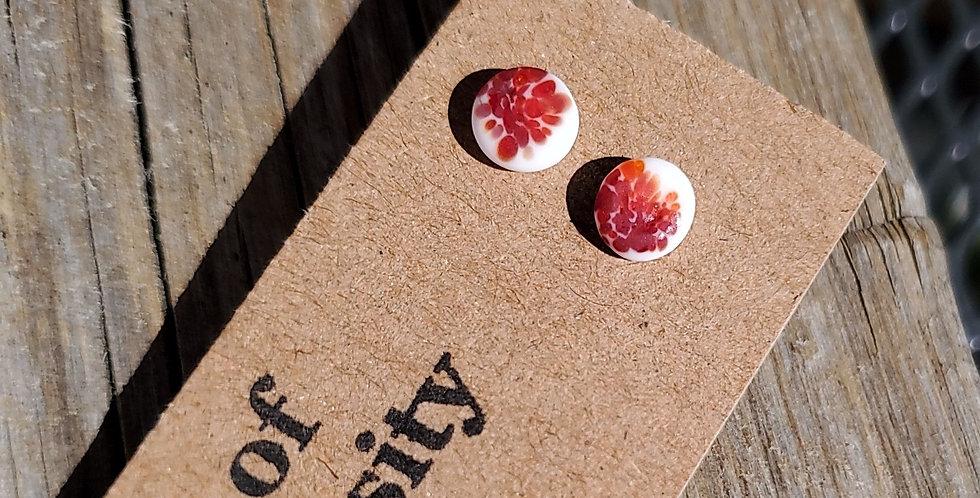 Matte Red Confetti Studs (R5)