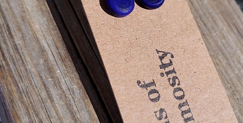 Matte Cobalt Blue Studs (B5)