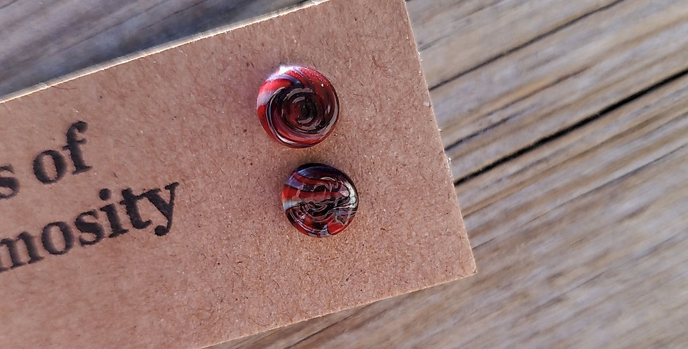 Red/Grey Swirl Studs (R3)