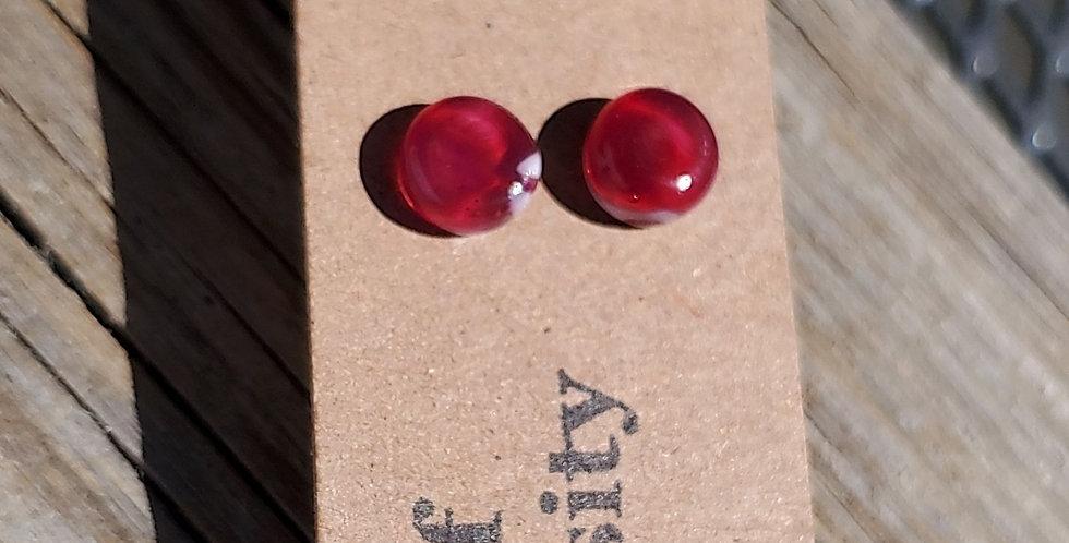 Raspberry Swirl Studs (P7)
