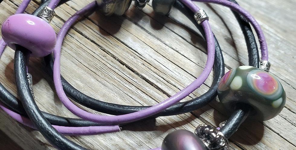 Silvered Plum Bracelet