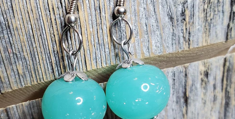 Glittery Green Earrings