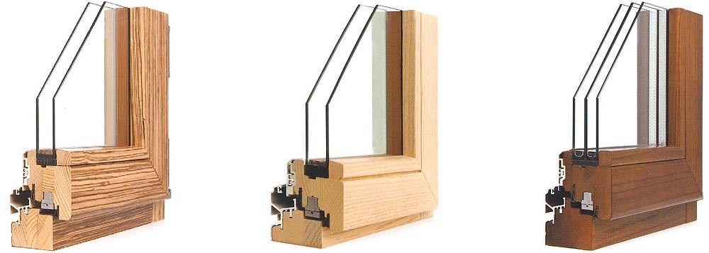 Finestre in legno-alluminio Sciuker