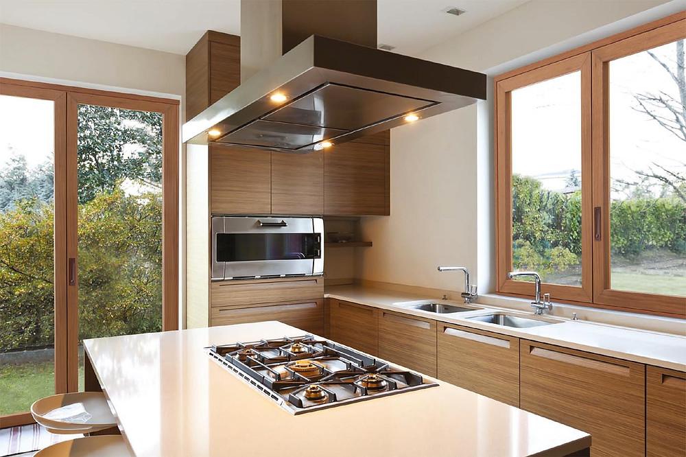Finestre il legno alluminio Sciuker