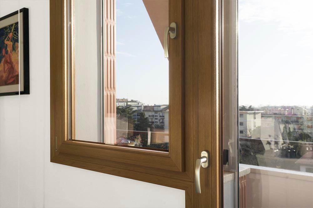 Finestre in PVC Finstral effetto legno