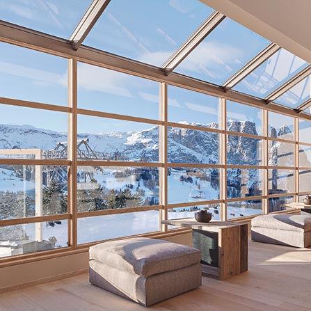 Finestra in legno-PVC-alluminio Finstral