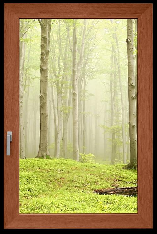 Finestra in legno su misura