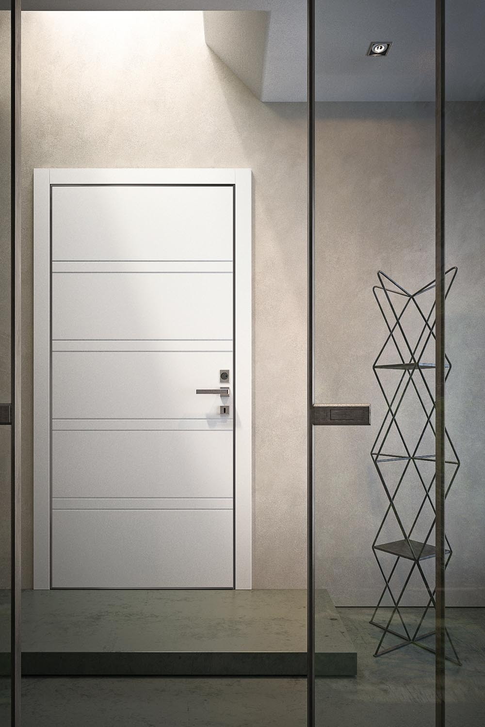 Porta blindata Garofoli Regina | laccato bianco