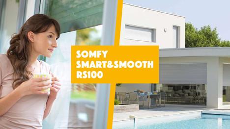 Smart&Smooth RS100: Somfy rinnova il motore tubolare.
