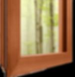 Finestra in legno con accoppiamento degli angoli a minizinken