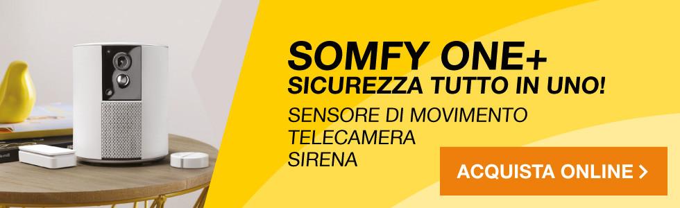 Telecamera di sorveglianza e allarme Somfy One+