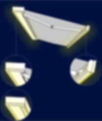 Tenda da sole con illuminazione integrata