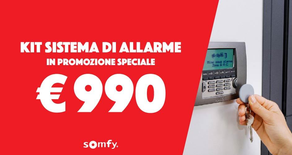 Sistema di allarme Somfy Protexial io wireless in promozione speciale!