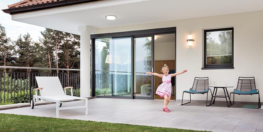 Porta finestra in PVC-alluminio