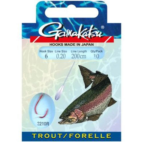 Gamakatsu  Hook Trout/Forelle 2210R 200cm Gr.10
