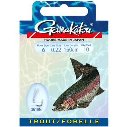 Gamakatsu Hook Trout/Forelle 3610N 150cm Gr.4