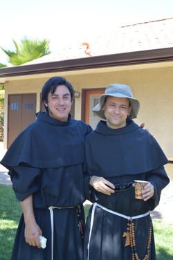 Fr. Reto and friar Calin