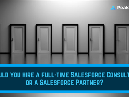 How to decide if you should hire a full-time Salesforce Consultant or a Salesforce Partner.