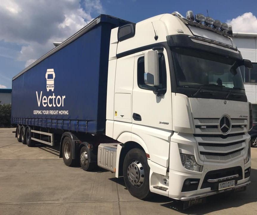 Vector freight - curtain trailer logo im