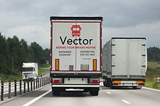 Logistics international freight by road-