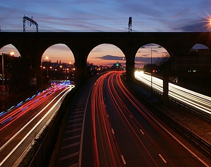Stockport M60 at night.jpg