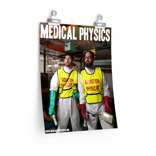 Medical Physics Action - Premium Matte Vertical Poster