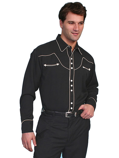 Scully Snap Front Shirt with Contrast Piping