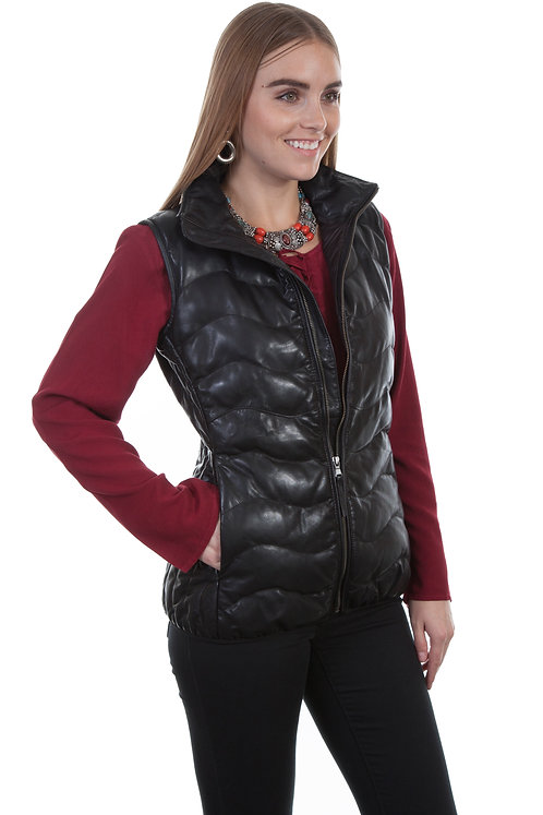 Scully Ribbed Leather Vest