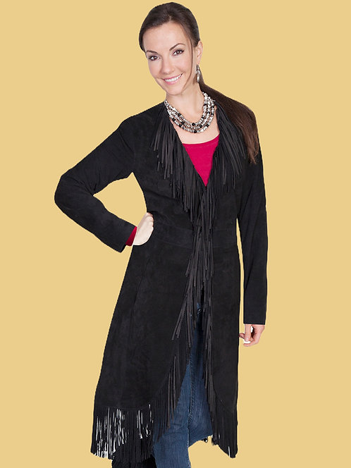 Scully Suede Fringe Maxi Coat
