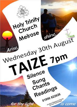 Taize service 7pm WednesdayAugust 30