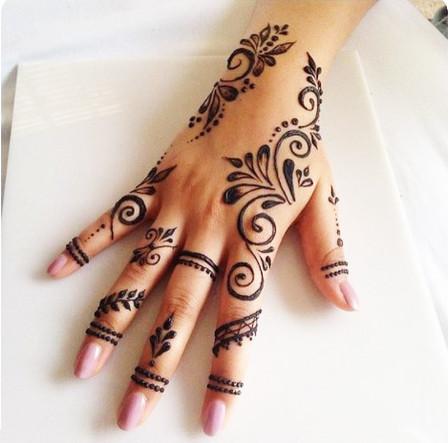 finger henna designs
