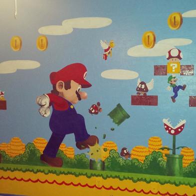 Mario Bro wall mural