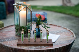 Cannabis Centerpieces with pre-roll tubes.