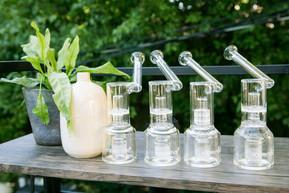 Pristine glassware ready for the next guest.