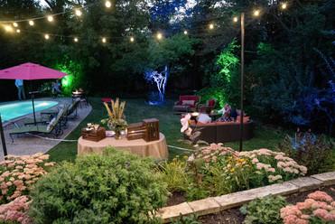 Backyard cannabis party setup