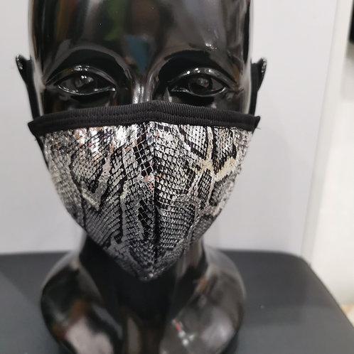 Metallic Snake Skin Face Mask