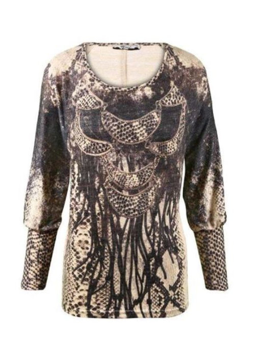 LIMITED EDITION Soft Round Neck Oversized Sweater With Crystal Embellishment