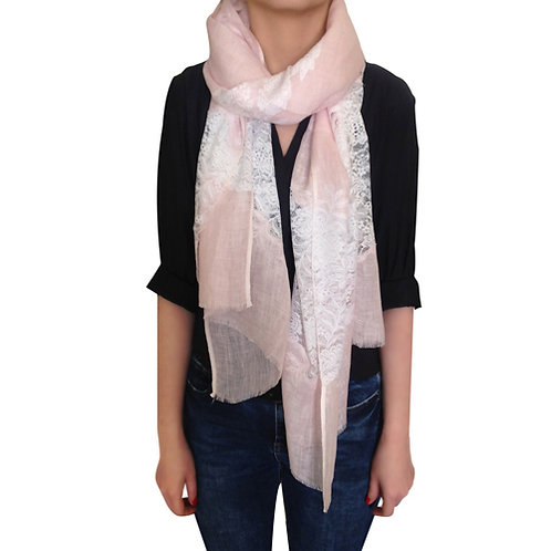 Amishi Lina Pink Lace Scarf