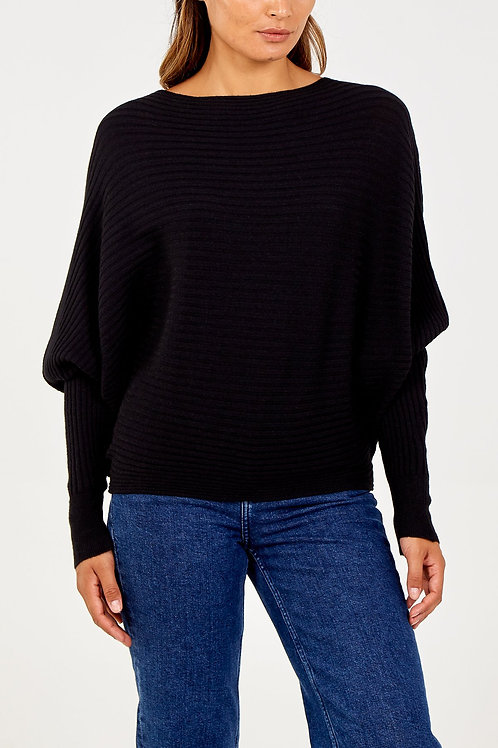 Batwing Ribbed Jumper | One Size