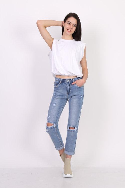 Toxik 3 Jeans L20111 Boyfriend Ripped Super Stretch Jeans