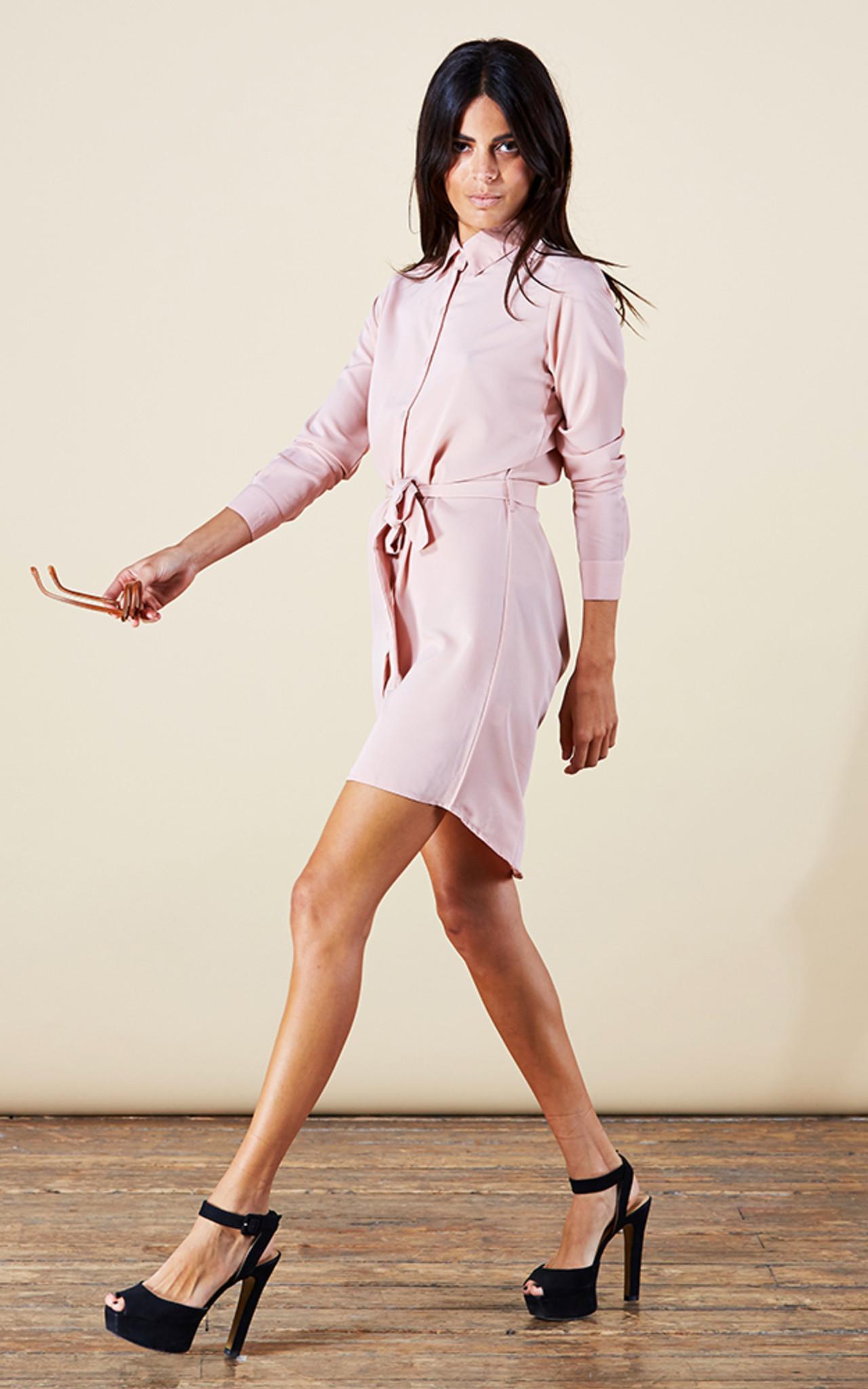 Dancing Leopard Mini Shirt Dress