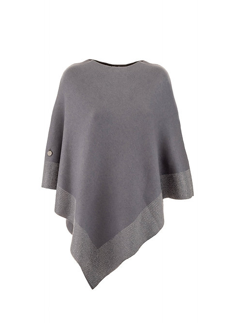 Luxe Crystalised Poncho | Black or Grey