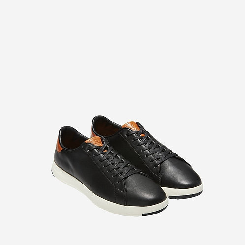 COLE HAAN Men's GrandPrø Tennis Trainer Black/British Tan