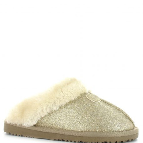 Ella Jill Ladies Slippers With Memory Foam by Ella Shoes | Gold Sparkle