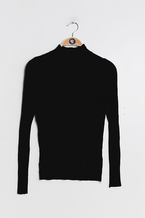 Ribbed Wool Mix Turtleneck Jumper | S/M or L/XL
