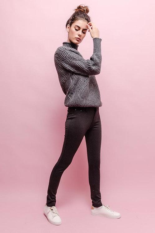 Miss Anna Trouser Leggings (Treggings) Grey
