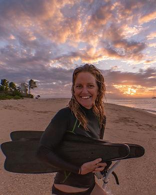 EJ with Fins on Beach sunset-7896.jpg